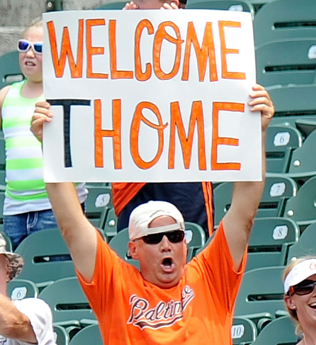 This Orioles fan is excited about the addition of veteran slugger Jim Thome.