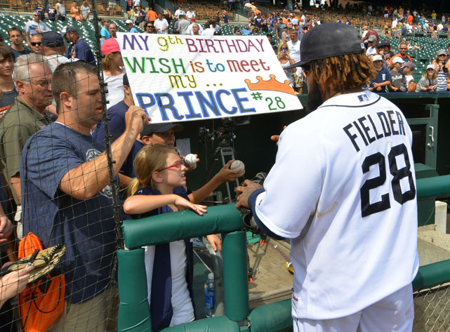 A girl gets her birthday wish - a meeting with Prince Fielder.