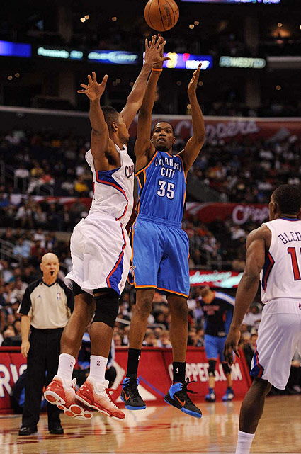 Though he has yet to a play a minute for Team USA, Durant is a virtual lock for the starting lineup in London. The three-time NBA scoring champ is a threat from everywhere on the court, and his silky jumper will help space the floor, a must in international competition.