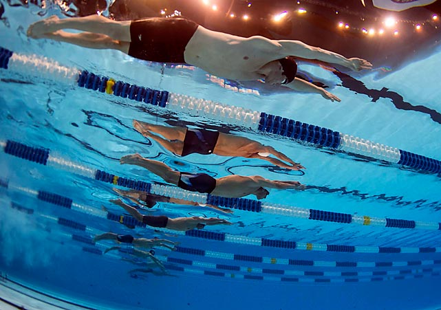 Michael Phelps swims the 200-meter individual medley during a heat race at the U.S. Olympic trials on June 28. Phelps beat Ryan Lochte in the event final by less than one-tenth of a second.