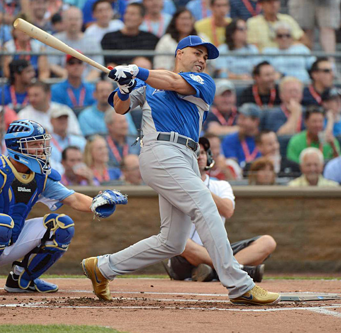 Beltran opened up the Derby by hitting seven home runs and would advance to the second round, where he added five more.
