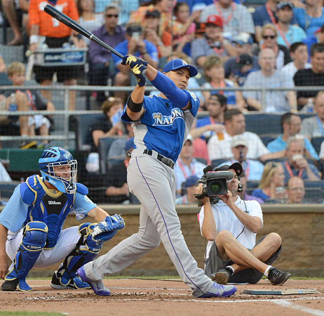 Gonzalez, who finished the first half of the season with 17 homers, failed to advance after a four-homer opening round.