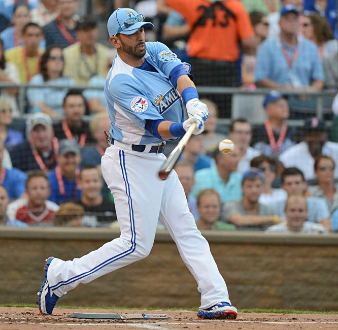Bautista, who has hit more homers than any player over the past three seasons, added seven more in the final round but couldn't catch Fielder.