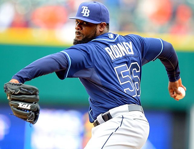 Coming off a disastrous 2011 in Anaheim that left him on bad terms with manager Mike Scioscia, the beardy reliever has resurfaced in Tampa Bay and is almost unhittable. Rodney finished the first half with 25 saves, an 0.93 ERA and strikeout to walk ratio of over 7/1. The Rays' closer has allowed only four earned runs in 40 appearances and has emerged as a finisher at the back of skipper Joe Maddon's bullpen.