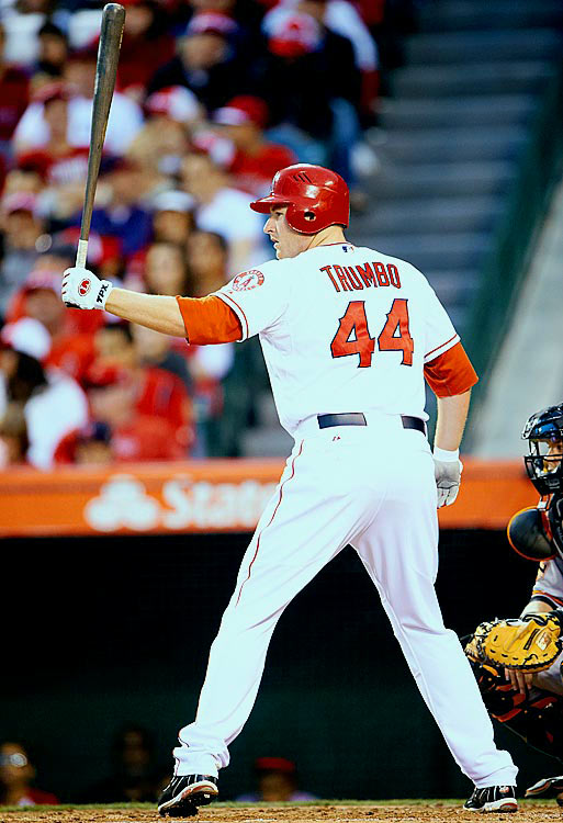 An Anaheim Calif., native, Trumbo has emerged as a mainstay in the middle of the Angels' lineup. He led the team with 29 home runs and 87 RBI last year, but was moved from first base to left field after the Angels signed Albert Pujols. Unfazed by the position switch, Trumbo will almost certainly eclipse his home run total from last season (he already has 22) and will provide the warming Pujols with some lineup protection.