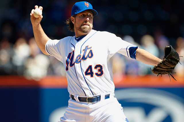 The cerebral knuckleballer had arguably the best first half of any pitcher in Major League Baseball and has helped the Mets stay relevant in a year in which they appeared destined for the cellar. Dickey was named to his first All-Star team after finishing the first half with a spectacular 12-1 record with a 2.40 ERA and 123 strikeouts. As of July 11, Dickey leads the National League in wins, WHIP, complete games and shutouts.