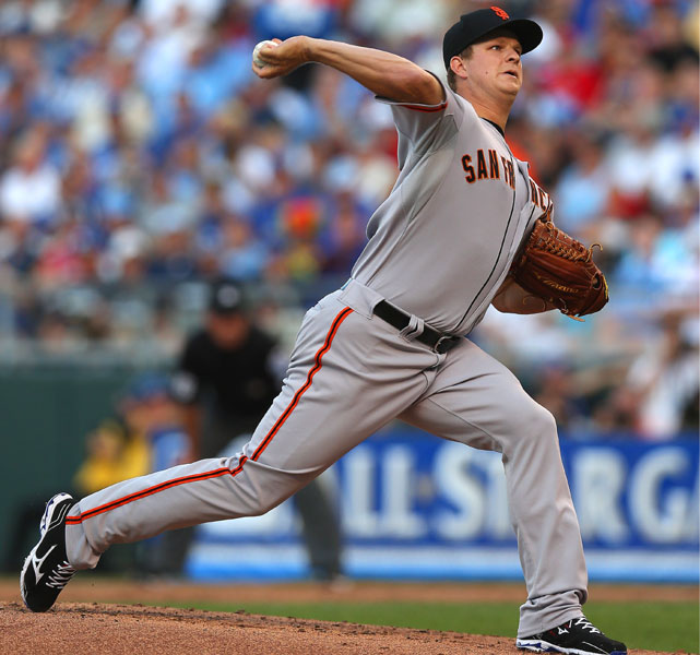 Giants pitcher Matt Cain, the National League starter in his first All-Star appearance, went two scoreless innings, allowed one hit and struck out one. Cain combined with 10 relievers to shut out the American League for the first time since 1996.
