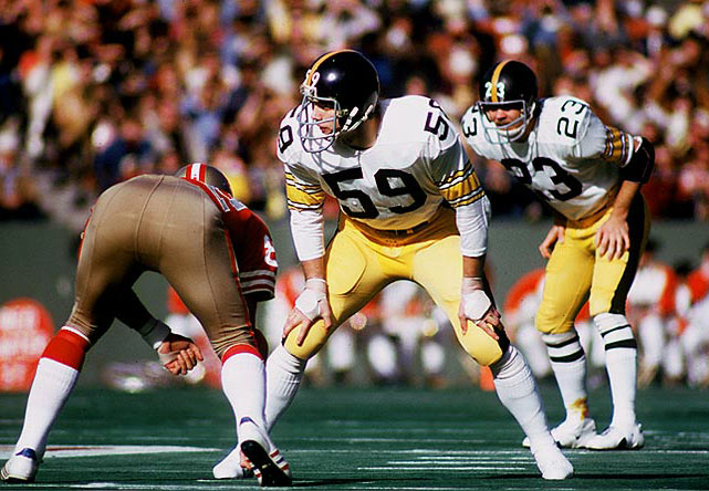 Played his outside linebacker position for the Steelers with surgical precision: 25 sacks, 21 opponents' fumbles recovered and 32 interceptions.     Runner-up:   Seth Joyner    Worthy of consideration:   Matt Blair