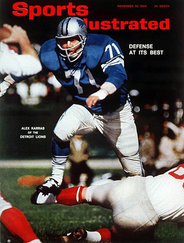 """The fiesty lineman played 12 seasons for the Lions and was an All-Pro selection three times before retiring for a career in Hollywood and the immortal line, """"Mongo only pawn in game of life.""""   Runner-up:   Walter Jones    Worthy of consideration:   Tony Boselli, Fred Dean, Walter Jones, Charles Mann"""