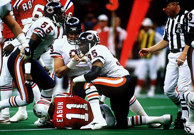 """Dent was a central figure on Chicago's dominant """"46"""" defense (he played defensive end) that ate the NFL whole in 1985. That year, he led the league with 17 sacks and earned Super Bowl XX MVP honors.   Runner-up:   Greg Lloyd    Worthy of consideration:   Bryce Paup"""
