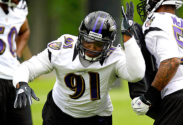 After Terrell Suggs tore his Achilles tendon earlier in the offseason, a position opened up for a new starting outside linebacker. The likely answer is Courtney Upshaw, the Ravens' second-round pick this year. Paul Kruger and Sergio Kindle will make a bid for the spot, but many are expecting big things from Upshaw; he'll just get an earlier shot at stardom.