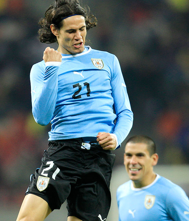 Cavani, 25, is one of Uruguay's three over-age players (Olympic rosters are otherwise U23) and one of four Olympians who also featured on Uruguay's 2010 World Cup team that finished fourth.