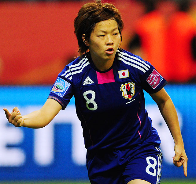 Miyama, a midfielder, scored Japan's tying goal in regulation of the 2011 World Cup final with the U.S. in the 81st minute. Miyama beat Hope Solo again in the penalty shootout as Japan won it 3-1 for its first championship.