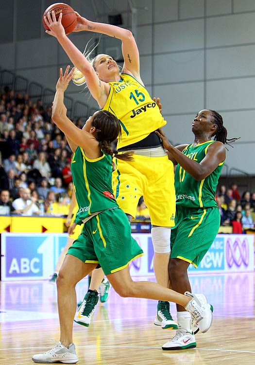 Standing at 6-foot-6, Lauren Jackson is a constant threat in the paint for this year's Australian team.  A three-time WNBA MVP, Jackson has averaged 19.2 points and 7.8 rebounds during her 11-year career.