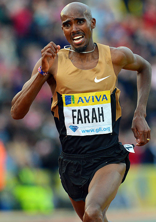 Farah was born in Somalia but later moved to England, where he has become an extremely decorated long-distance runner.  He holds the European track record for the 10,000 meters, the European indoor record for the 5,000 and countless other British running records.  He won the 5,000 at the world championship last year, and is seeking the first British Olympic gold medal in a long distance event since 1908.
