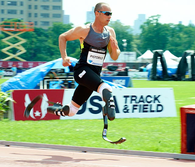 "Pistorius, who had both legs amputated when he was 11 months old, was able to overcome the odds and become an Olympic sprinter for the South African team.  ""Blade Runner"" posted a time of 45.07 in the 400 meters in July, which gave him the 'A' standard needed for both the 2011 world championship and this year's Olympics. Even though he wasn't selected for the final in the 2011 world championship, he became the first amputee to win an able-bodied world track medal after his silver in the 4x400 relay. He hopes to do the same in London."