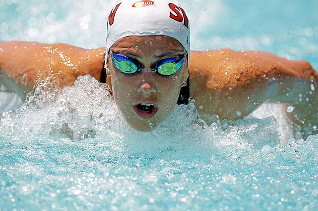 Rice is a 24-year-old swimmer from Brisbane, Australia and the current world-record holder in the women's 400-meter individual medley.  She took home three gold medals at the Beijing Olympics in 2008, and looks to improve on that total in the upcoming weeks in London as she fights through shoulder troubles.