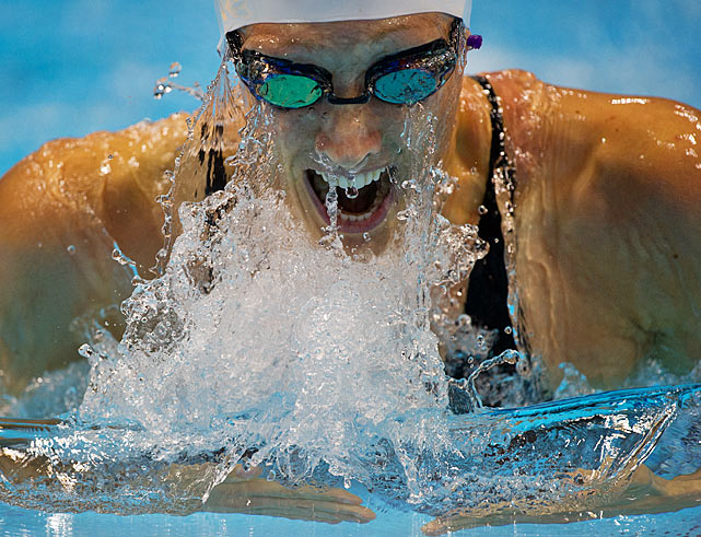 Breeja Larson of the U.S. qualified for Monday's 100-meter breaststroke final.