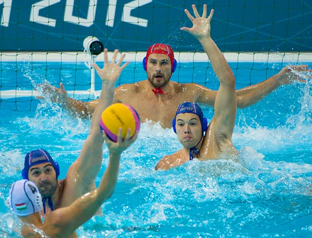 Defending gold medalist Hungary lost an Olympic water polo match for the first time in 12 years as Serbia pulled off a 14-10 upset on Sunday.