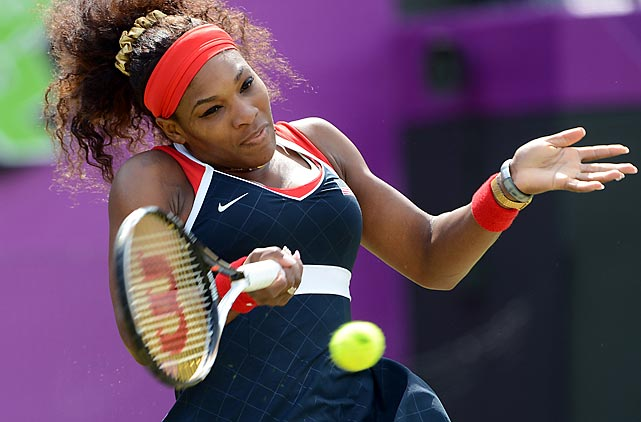In her pursuit for a fourth Olympic gold medal, Serena Williams cruised to a 6-3, 6-1 victory in her 2nd round match against Poland's Urszula Radwanska.