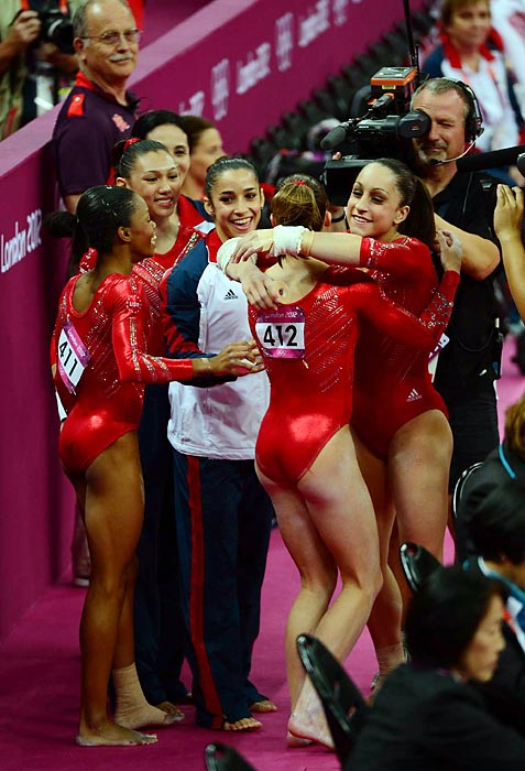 The Fab Five clinched a team all-around gold medal for the U.S. for the first time since 1996.