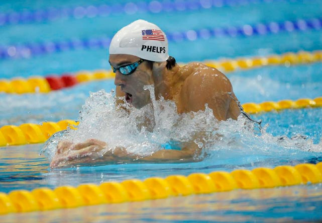 The most decorated Olympian of all time, Michael Phelps swam during his preliminary heat to qualify for the 200 IM final.