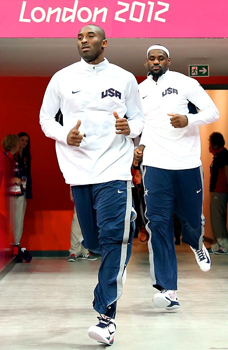 """Kobe Bryant incurred the wrath of Charles Barkley, Michael Jordan and others when he claimed the 2012 U.S. Olympic basketball team would defeat the famed 1992 Dream Team.  LeBron James echoed Bryant in an interview with ABC News, saying, """"If we got the opportunity to play them in a game we feel like we would win, too."""" Barkley, conversely, claimed that nobody except Bryant, James and Kevin Durant would have even have made the 1992 team."""
