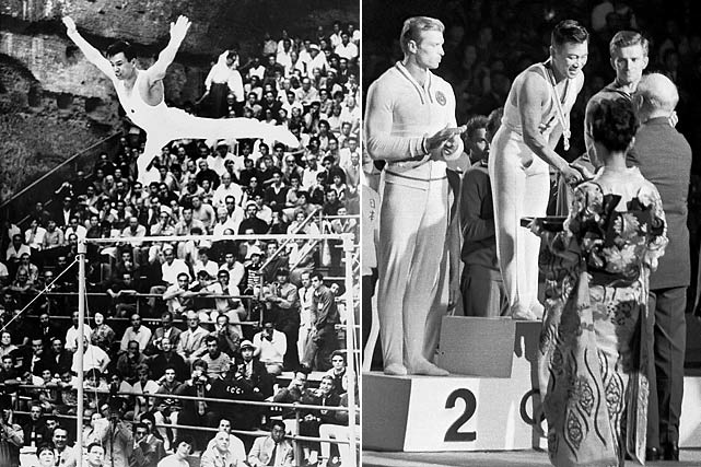 The fourth gymnast on the list, Ono was a four-time Olympic participant, which is rare among gymnasts.  He was never quite as dominant as some of the other members on this list, but did take home five gold medals, four silver and four bronze.