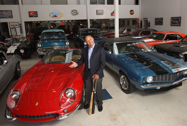 "Jackson stands among his collection of classic cars for SI's annual ""Where Are They Now?"" issue."