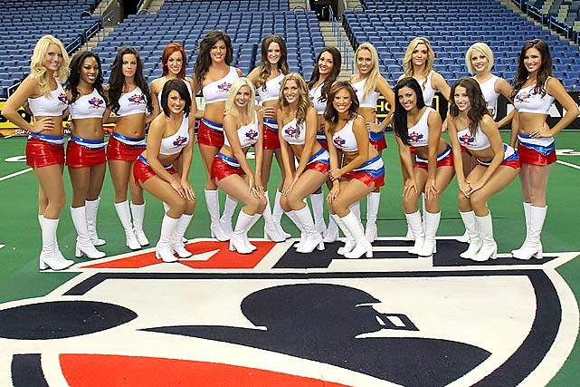 """The AFL """"Dream Team"""", composed of one dancer from each Arena Football League team voted in by the fans, performed at ArenaBowl XXV on Aug. 10, 2012."""