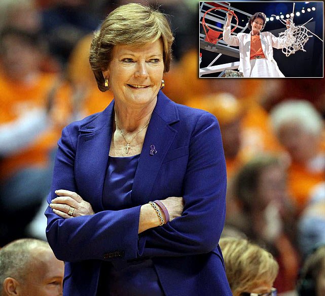 In April, Tennessee women's basketball coach Pat Summitt announced that she would be stepping aside from head coaching duties. After being diagnosed with early-onset demential, Summitt continued to coach the Lady Vols, leading them to the 2012 NCAA tournament's Elite 8. She concluded her 38- year career as the winningest coach in NCAA basketball history.