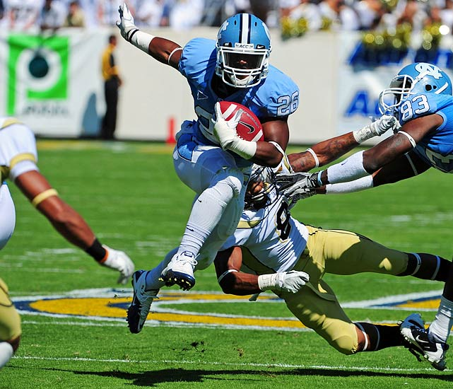 With 1,222 yards last season, he became the Tar Heels' first 1,000-yard rusher since 1997.