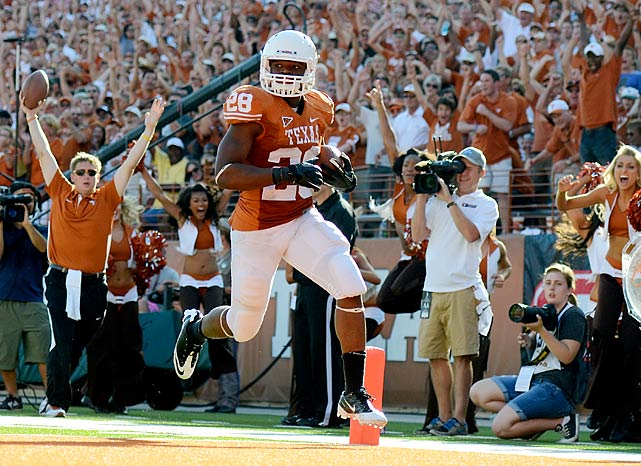 Despite missing three games due to injury, the former five-star recruit earned Big 12 Newcomer of the Year honors last season. He became the first true freshman in a decade to lead the Longhorns in rushing.