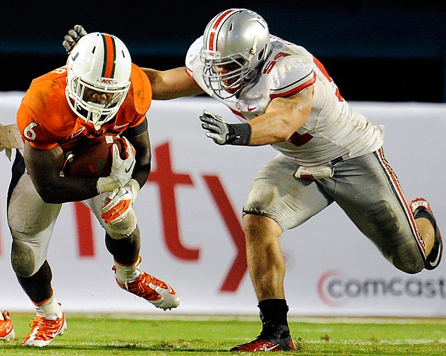Simon has posted 28.5 career tackles for loss and teams with Johnathan Hankins on OSU's ferocious front.