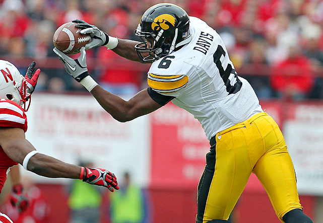 Fast and physical, Iowa's go-to receiving threat will haul in many more than his 50 grabs of 2011.