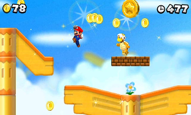 Nintendo's iconic plumbers return in this highly polished 2D platformer with some of the most inventive level design and control precision you can find on a handheld (or anywhere else). An emphasis on coin-collecting is a welcome gameplay twist, with the game-wide goal of collecting one million coins looming over the proceedings.   A new feature known a Coin Rush Mode places users in three randomly selected levels to pick up as many coins as possible in a limited amount of time; in addition to chasing your own top scores, you can compete against other players you meet via StreetPass.   While the level design is on par with other 2D games in the series, it doesn't feel as innovative as the more recent 3D games like the Wii's Mario Galaxy games or 2011's Super Mario 3D Land, also released on the 3DS. Yet as a throwback to side-scrollers of yore, it's a worthy descendant.   Score: 8 out of 10