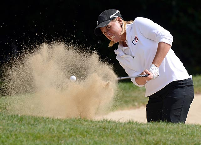 Reilley Rankin wedges a ball out of the bunker during round two of the Canadian Women's Open in Coquitlam, Canada.