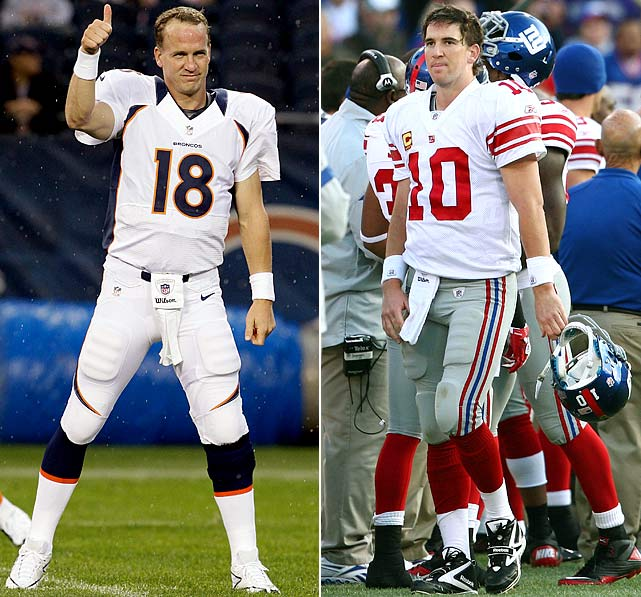 According to SI writer Don Banks, the prediction business is a foolish and risky game in the ever-changing NFL, but hey, somebody's got to do it. So here goes, 20 bold predictions as we stare down the start of the 2012 regular season:   Peyton Manning's comeback in Denver remains a work in progress, but when the regular season comes to a close, he and his Broncos will be back in the playoffs while little brother Eli and his defending Super Bowl champion New York Giants will not. And that will make the G-Men the first NFC champion to not return to the playoffs the following year since the 2007 Bears missed the dance. A combination of key injuries, a killer schedule and a bit of post-Super Bowl syndrome will cost New York any shot to repeat.