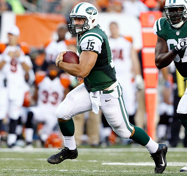 Barring an injury to Mark Sanchez or the Jets opening a game in the wildcat formation to mess with a defense, Tim Tebow won't make a start at quarterback in 2012. He will, however, challenge running back Shonn Greene for the team rushing lead throughout much of the season, before succumbing to Greene in the end.