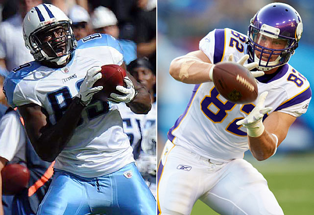 There won't be a new Rob Gronkowski or Jimmy Graham-level talent to emerge at tight end this season, but Tennessee's Jared Cook in the AFC and Minnesota's Kyle Rudolph in the NFC will be two of the busiest pass-catchers at the NFL's new glamour position. Cook and new Titans starting quarterback Jake Locker have a good feel for each other in the passing game, as do Rudolph and Vikings' second-year starter Christian Ponder. When both quarterbacks get in trouble, they'll be looking first and foremost for their tight end.