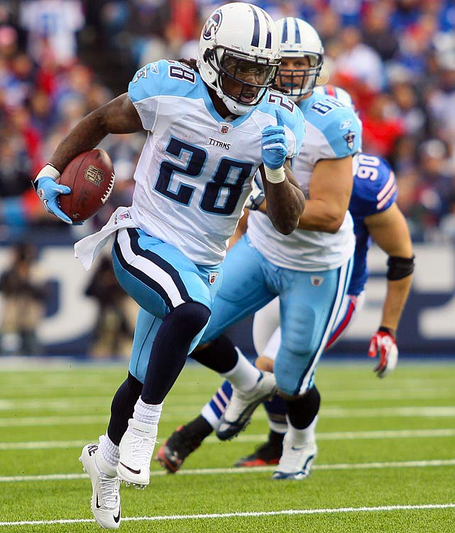 After posting just four 100-yard rushing games in 2011, Tennessee's Chris Johnson will double that total this season, finishing with more than 1,400 yards and vaulting himself into contention for the league's Comeback Player of the Year award (which a certain Denver quarterback will win). But the Titans will again narrowly miss out on the playoffs, as Jake Locker's education at quarterback continues.