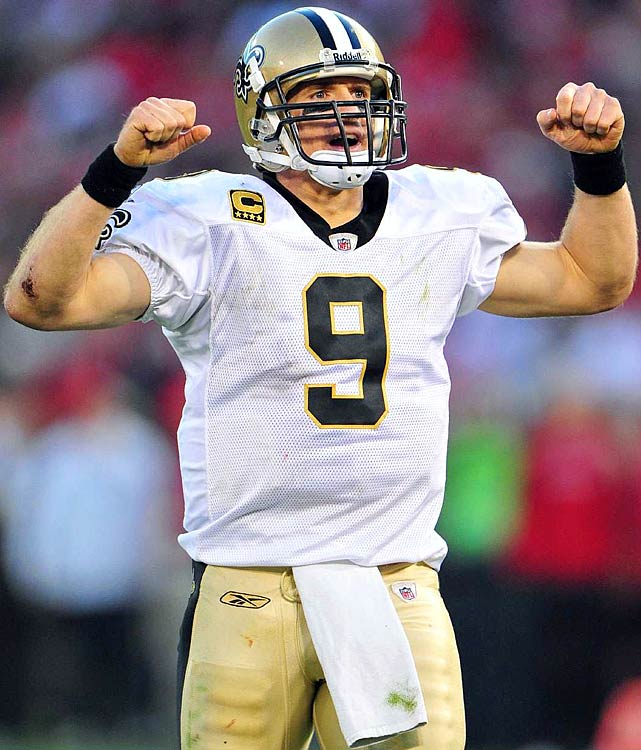 Drew Brees has a weighty list of NFL records, and he added a big one in 2011, toppling Dan Marino's single-season passing mark with 5,476 yards. After five years with the Saints, Brees holds 30 franchise records. But it goes beyond the numbers. Brees is well-known for being the heartbeat of the Saints and New Orleans, turning both the franchise and city around after Hurricane Katrina ravaged both. During the 2011 lockout, he famously organized player-only workouts, paying the way for each player to stay in New Orleans during the offseason.