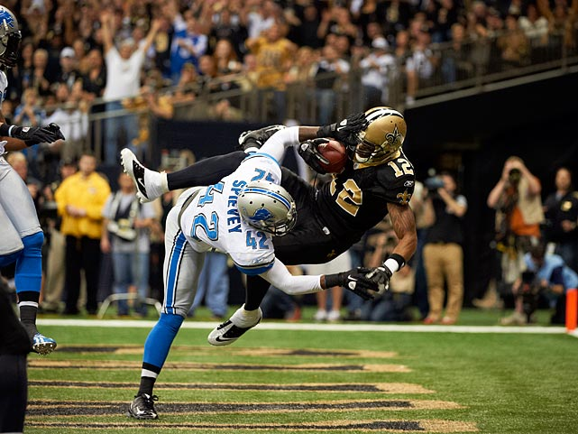 Marques Colston became an unlikely star in 2006, advancing quickly from a seventh-round pick to a Week 1 starter, receiving more votes for Offensive Rookie of the Year than more celebrated teammate Reggie Bush. When he was drafted, there was speculation he was too big and slow to play receiver, but in the six years since, Colston has become Drew Brees' go-to target, posting five 1,000-yard seasons over that span.