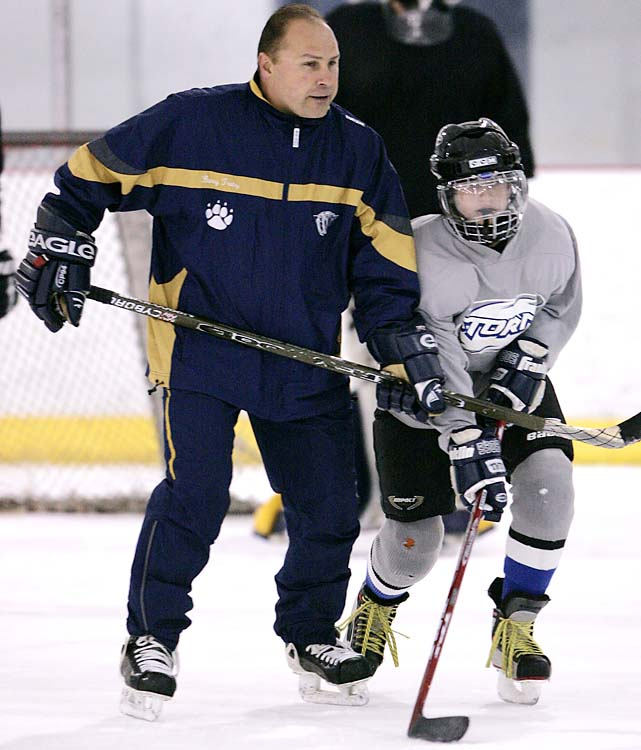 Predators coach Barry Trotz coached a high school hockey team in Franklin, Tenn.