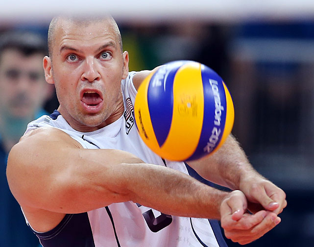 Richard Lambourne of the U.S. passes during the team's match against Tunasia on Monday.