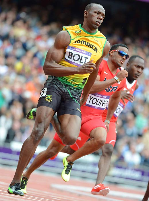 Usain Bolt cruised to an easy win in his 200-meter preliminary race. The final is scheduled for Thursday.