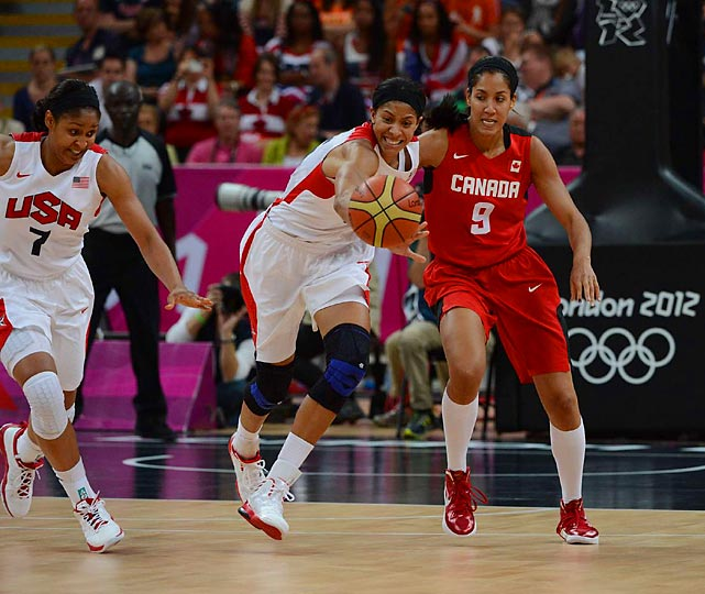 The USA women's basketball team overpowered Canada during the quarterfinals, winning 91-48.