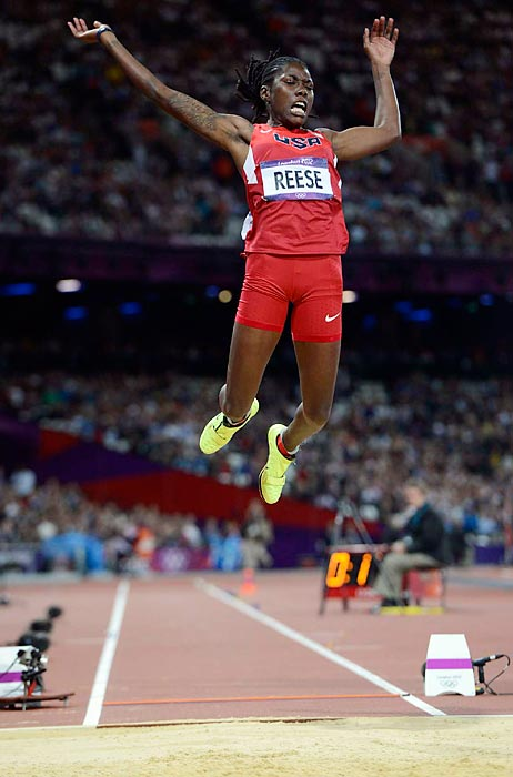 Brittney Reese became the first U.S. woman to win the long jump since Jackie Joyner-Kersee outdueled German Heike Drechsler in 1988