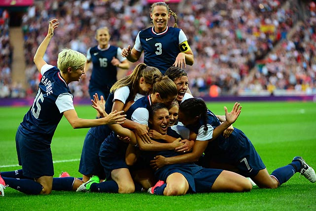 Carli Lloyd scored two goals to lead the U.S. women to a 2-1 victory over Japan in the gold medal game.