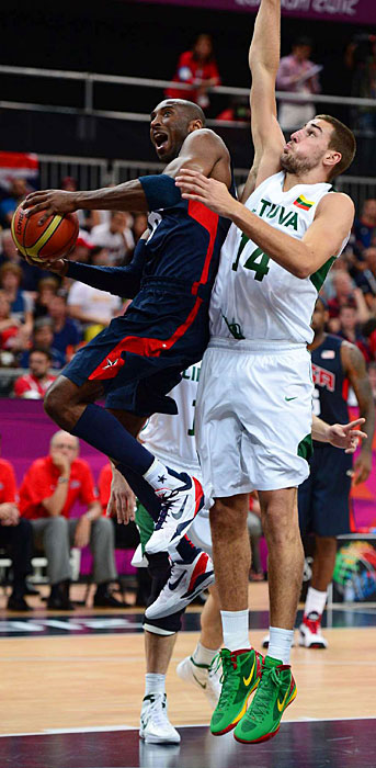 Kobe Bryant and the U.S. had their hands full with Lithuania, which led 84-82 with 5:50 to play. Ultimately, the U.S. prevailed 99-94.